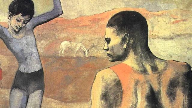 Пабло Пикассо. Девочка на шаре. 1905 (фрагмент)