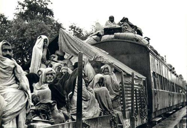 Поезд беженца на пути в Пенджаб, Пакистан
