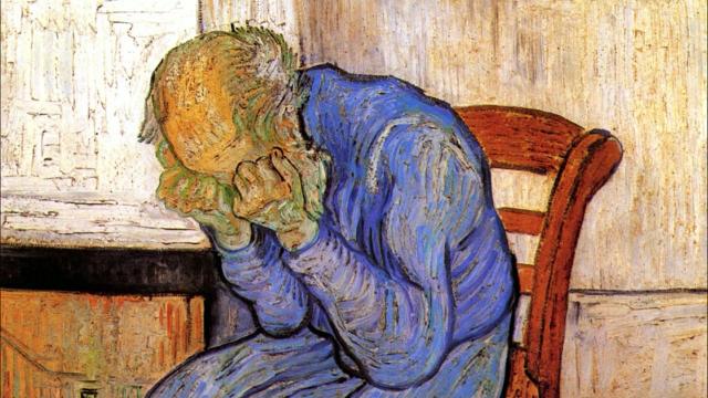 Винсент Ван Гог. Старик в печали. На пороге Вечности. 1890