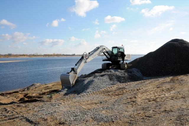 Строительство нижегородского низконапорного гидроузла