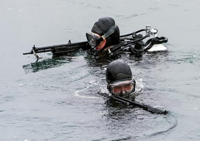 На дне Финского залива в Кронштадте стреляли и вели рукопашный бой