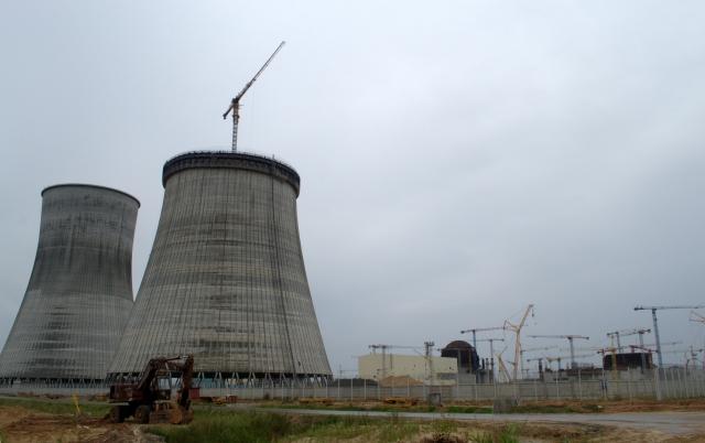 Строящаяся Белорусская АЭС в 2016 году
