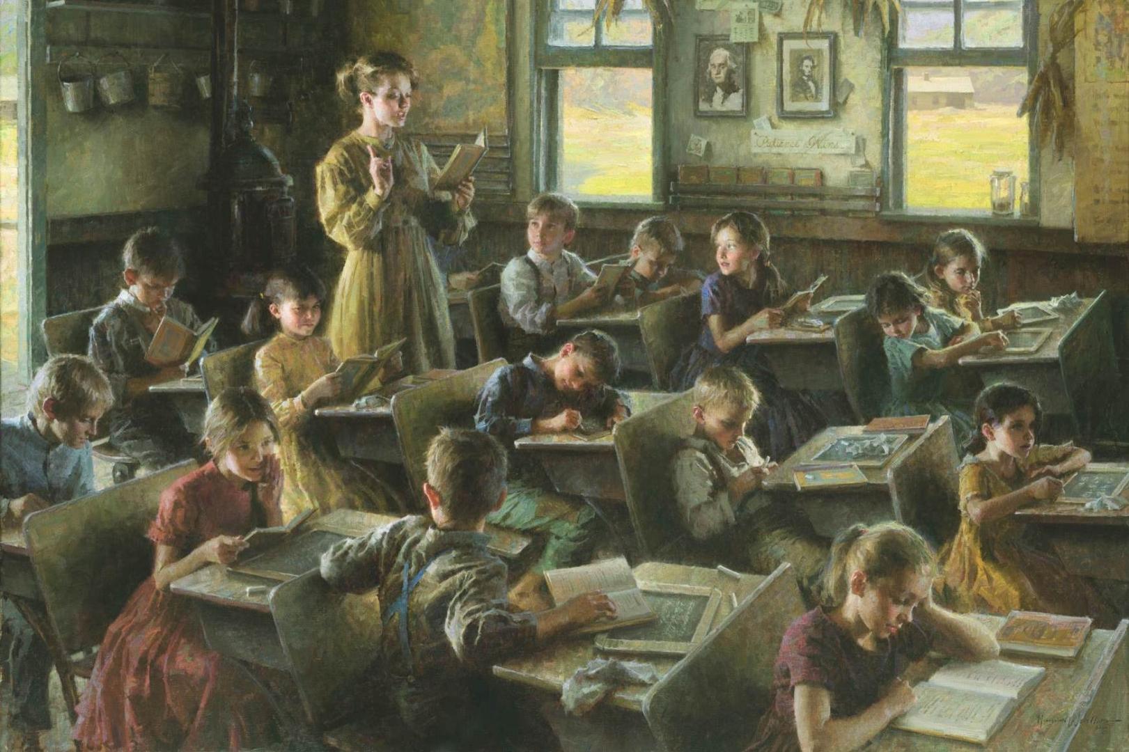 Старинные картинки о школе