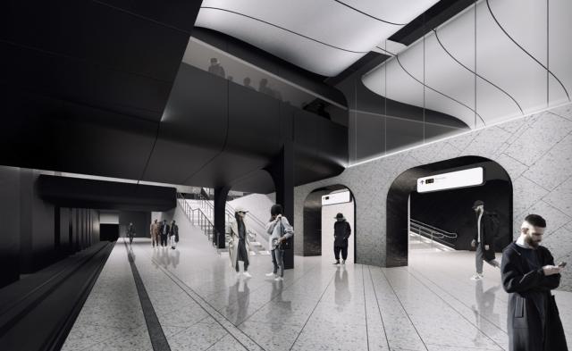 Проект станции метро Кленовый бульвар