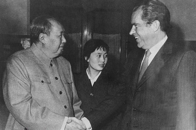 Мао Цзэдун и Ричард Никсон. 1972