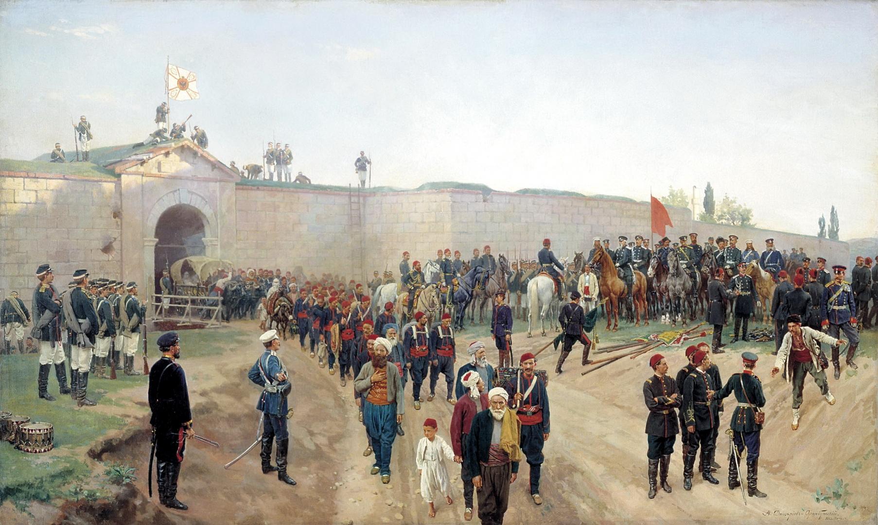 Николай Дмитриев-Оренбургский. Сдача крепости Никополь 4 июля 1877 года. 1883
