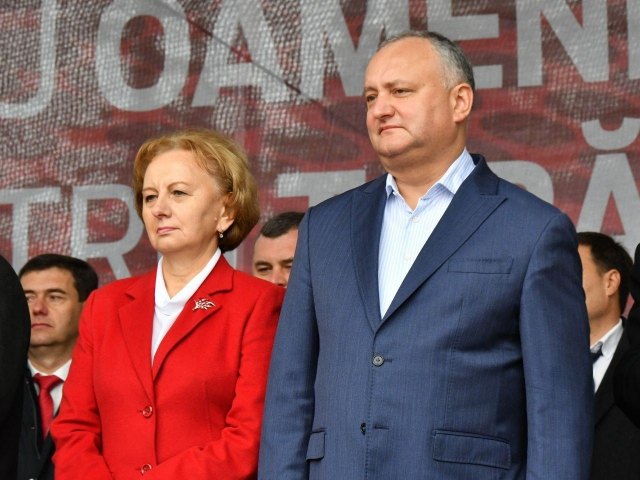 Зинаида Гречаный и Игорь Додон