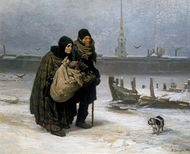 Виктор Васнецов. С квартиры на квартиру. 1876
