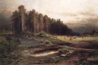 Алексей Саврасов. Лосиный остров в Сокольниках. 1869