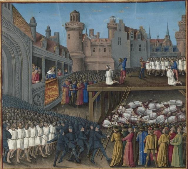 Жан Коломб. Избиение пленных мусульман Ричардом I. 1474