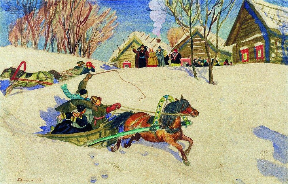 Борис Кустодиев. Масленица. 1920