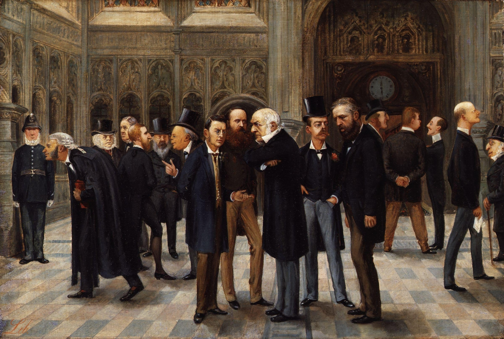 Либорио Проспери. Лобби Палаты Общин. 1886