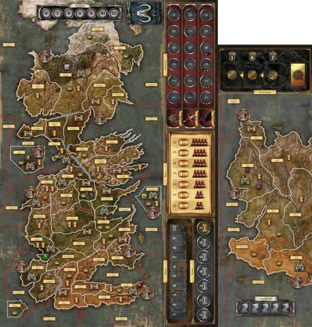 Модуль от дополнения «Мать Драконов» сочетается с игровым полем «Игры престолов. Второе издание»