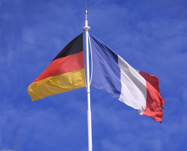 Флаги Германии и Франции