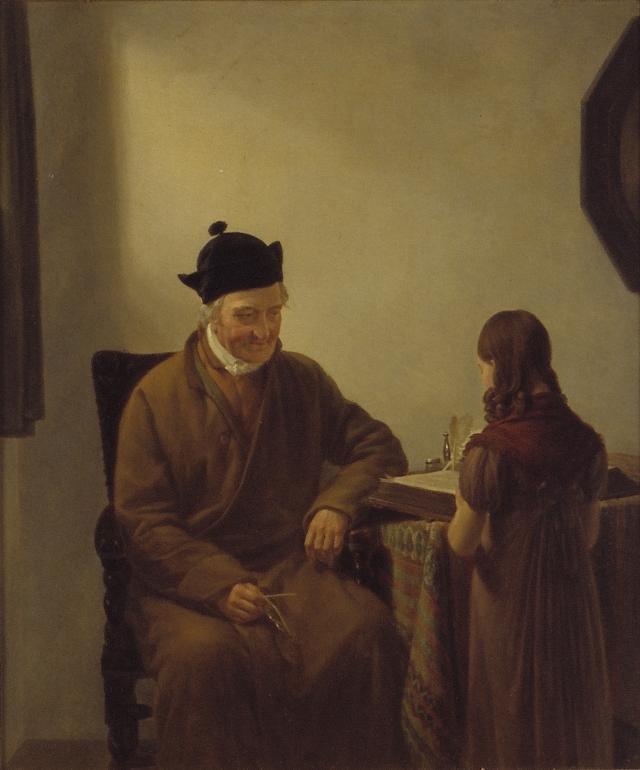 Джордж Адам Шмидт. Чтение библии. 1827