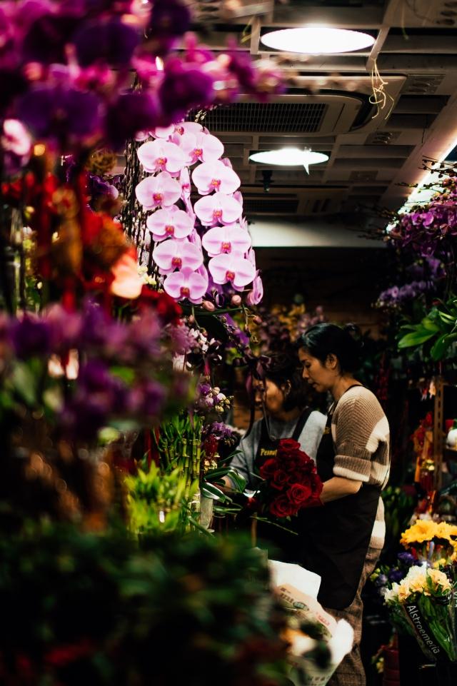 Цветочный магазин в районе Wan Chai