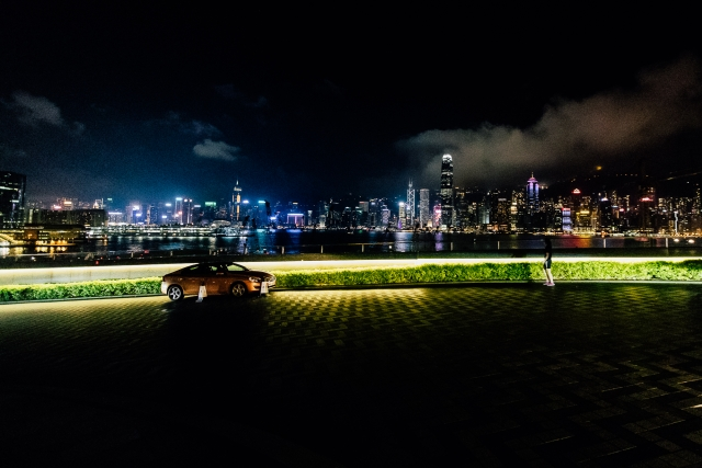 Набережная напротив Hong Kong island