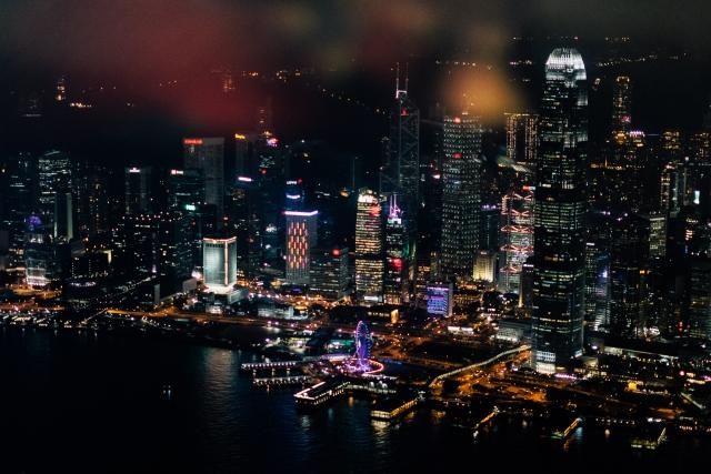 Вид на Hong Kong island