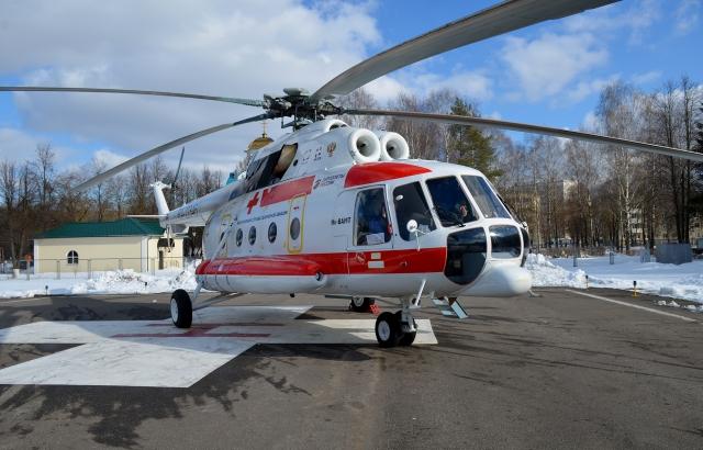 В Тверскую область поступил новый вертолёт Ми-8 для санавиации