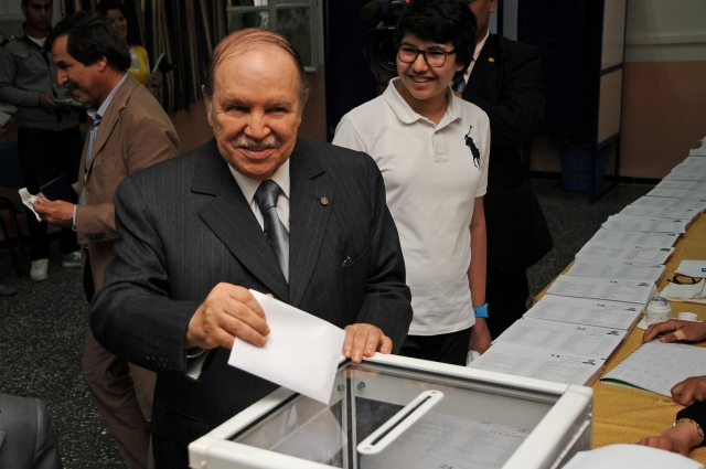 Абдель Азиза Бутефлика на выборах в 2014
