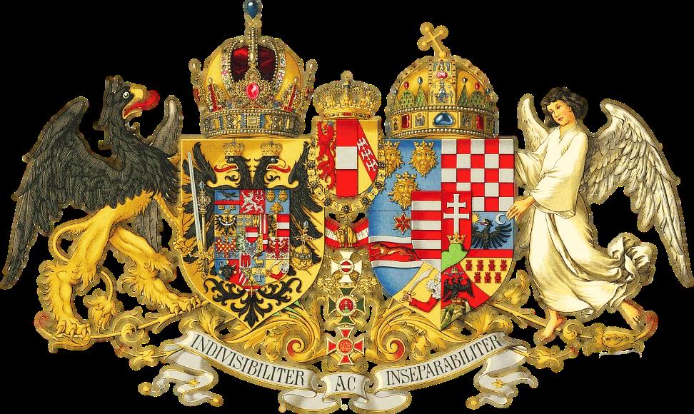 Гуго Герард Штрёль. Герб Австро-Венгрии. 1917 год