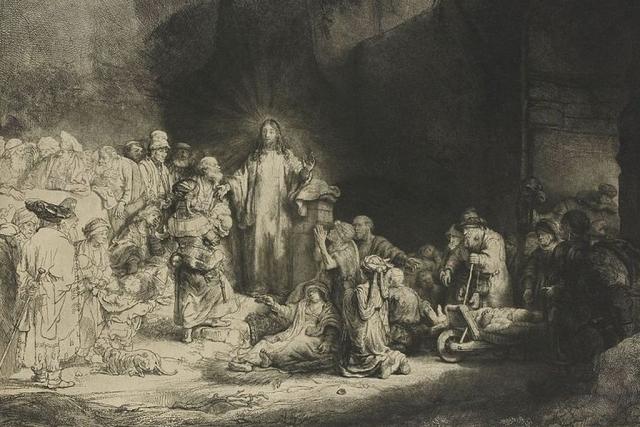 Рембрандт Харменс ван Рейн. Христос, исцеляющий больных. 1642-1647