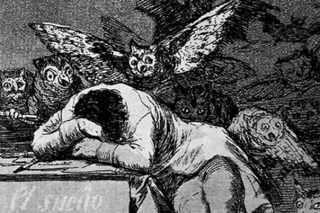 Франсиско Гойя. Сон разума рождает чудовищ (фрагмент). 1797–1799