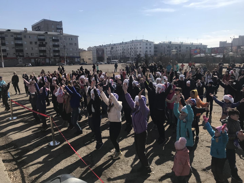 Жители Читы отмечают «Крымскую весну»