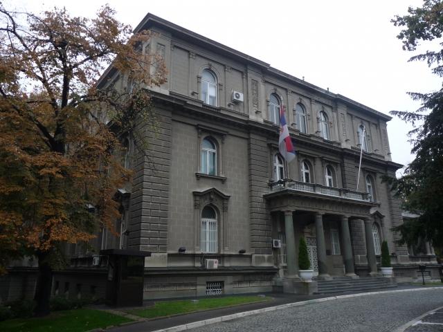 Протестующие в Белграде прорвали оцепление у президентского дворца