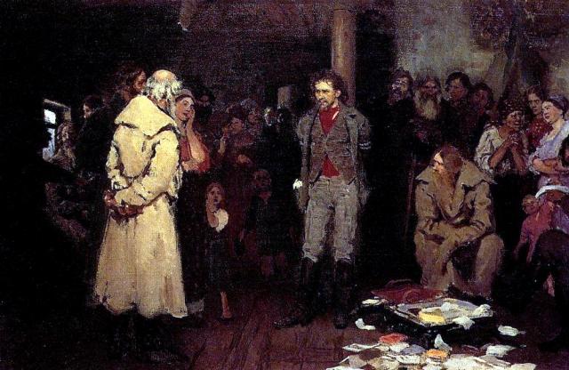 Илья Репин. Арест пропагандиста. 1878