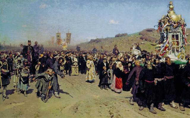 Илья Репин. Крестный ход в Курской губернии. 1880-1883