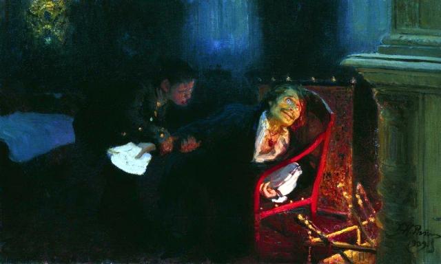 Илья Репин. Самосожжение Гоголя. 1909