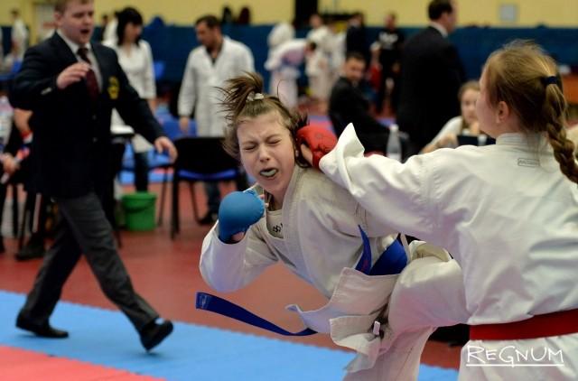 Во время Всероссийских соревнований по каратэ «Петербургская весна»