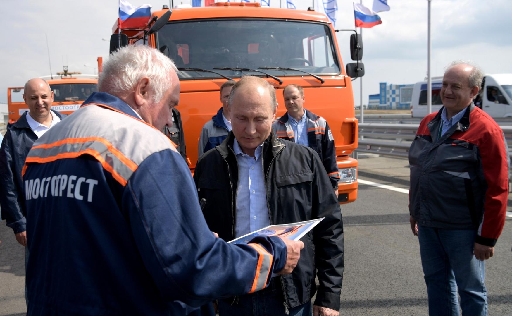 Со строителями Крымского моста. 2018