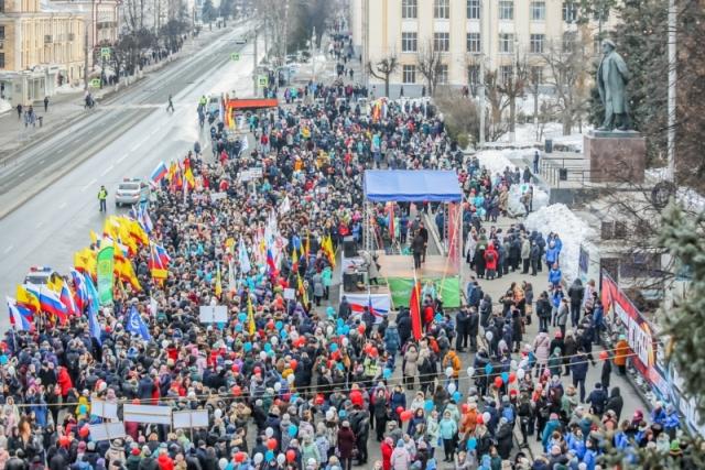 «Крымскую весну» в Поволжье встретили концертами, флешмобами и ярмарками