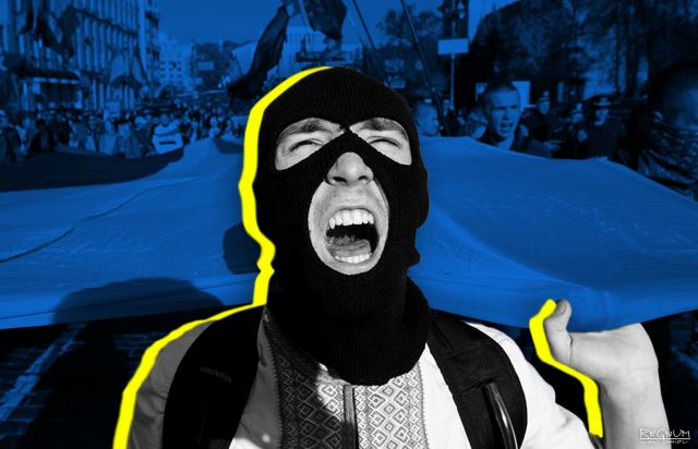 На предвыборном митинге Порошенко националисты схлестнулись с полицией