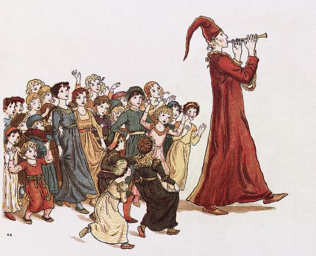 Гамельнский крысолов. Иллюстрация Кейт Гринуэй к поэме Роберта Браунинга