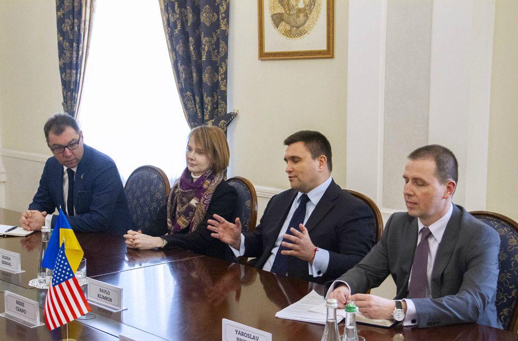Павел Климкин во время встречи с американскими конгресcменами