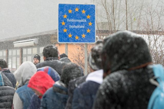 Мигранты у границы Германии