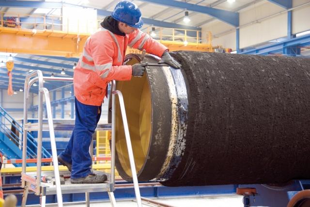 Производство труб для газопровода «Северный поток»