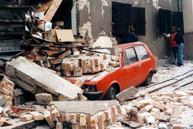 Улицы Белграда после бомбардировки НАТО
