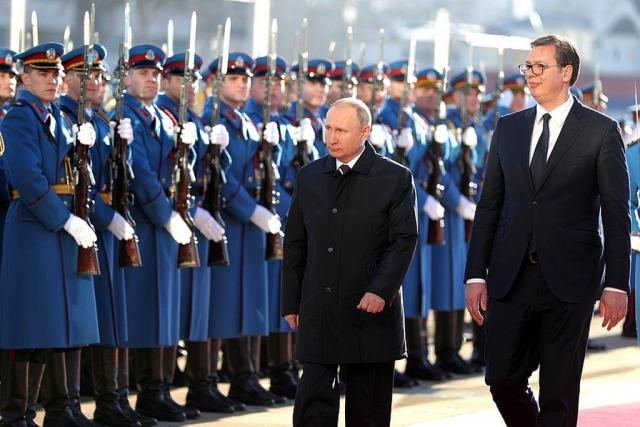 Владимир Путин и президент Сербии Александр Вучич