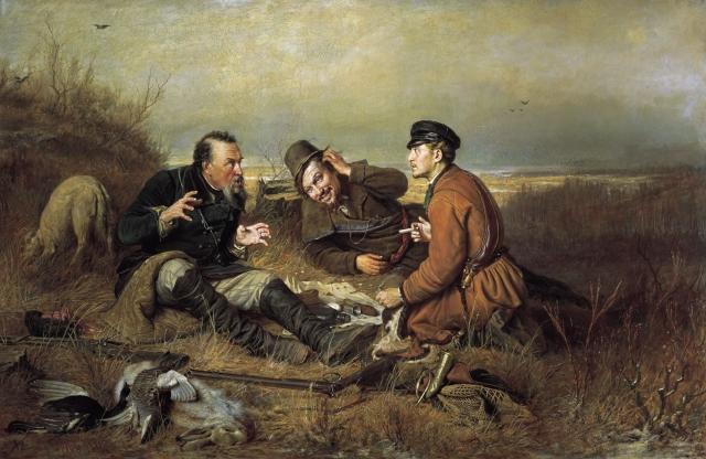 Василий Перов. Охотники на привале. 1871