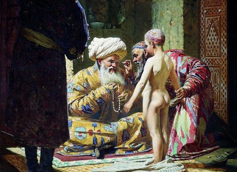 Василий Верещагин. Продажа ребенка-невольника (фрагмент). 1872