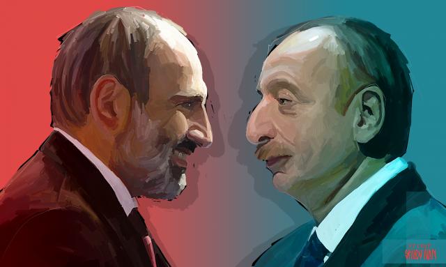 Никол Пашинян и Ильхам Алиев