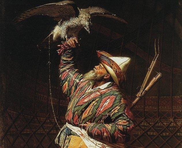 Василий Верещагин. Богатый киргизский охотник с соколом. 1871