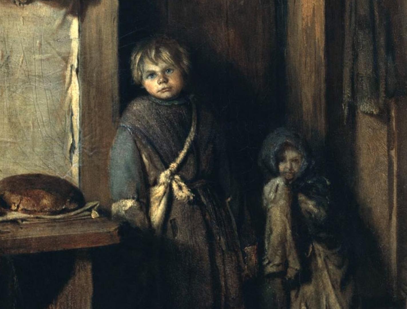 Павел Петрович Чистяков. Нищие дети. 1861