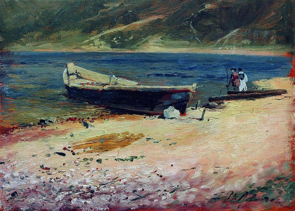 Исаак Левитан. Лодка на берегу