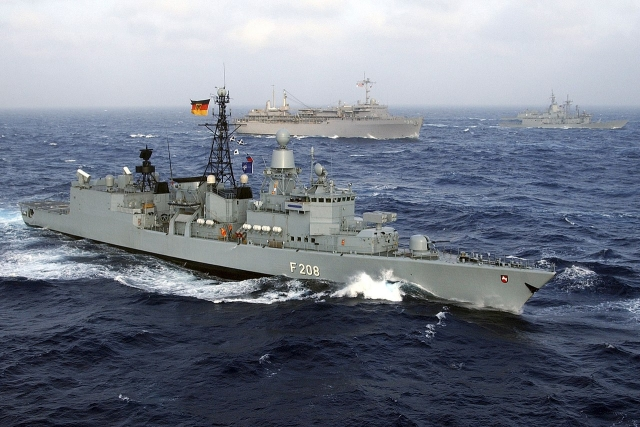 Группировка кораблей ВМС Германии около берегов Ливана