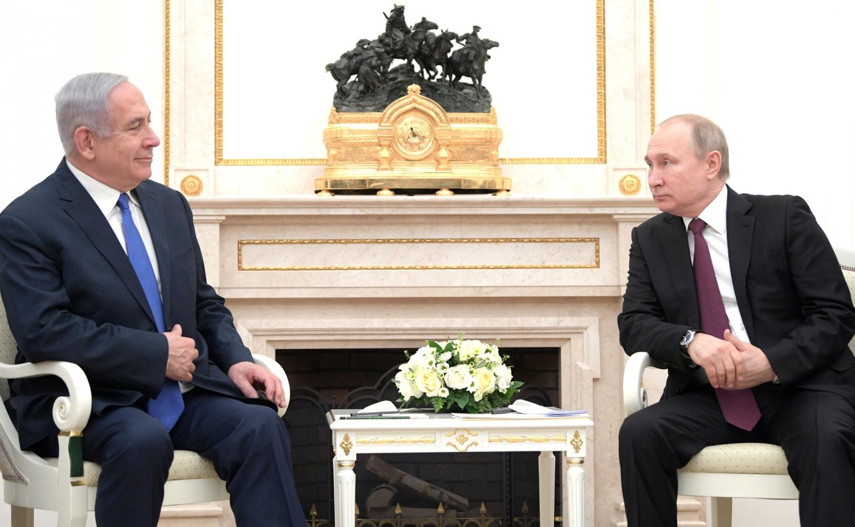 Биньямин Нетаньяху и Владимир Путин. Встреча в Москве 04.04.2019